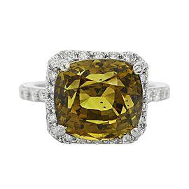 Platinum Alexandrite Diamond Ring Size 7.5