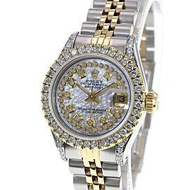 Rolex Lady Datejust 26mm White MOP Diamond Dial Lugs Diamond Bezel
