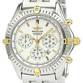 Polished BREITLING Shadow Flyback Chronograph MOP Dial Watch B35312