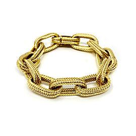 18k Yellow Gold Double Oval Rolo Link Bracelet