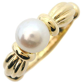 TIFFANY & Co K18 yellow gold/Pearl Pearl Ring NST-29