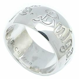BULGARI 925 Silver Save the Children Ring