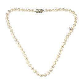 Mikimoto 18K White Gold Cultured Pearl Necklace