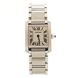 Cartier Tank Francaise Quartz Watch Stainless Steel 20