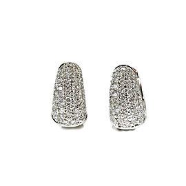 Roberto Coin 18K White Gold 1.50ctw. Diamond Huggie Hoop Earrings