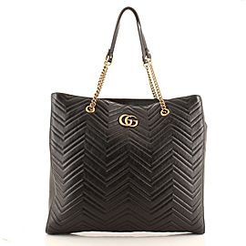 Gucci GG Marmont Zip Tote Matelasse Leather Large