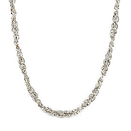 Platinum Cut Ball Chain Necklace