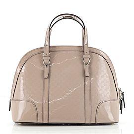 Gucci Nice Top Handle Bag Microguccissima Patent Small