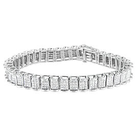 14K White Gold 5ctw. Princess-Cut Diamond Tennis Bracelet