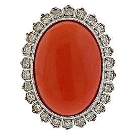 Gold Diamond Coral Dome Ring