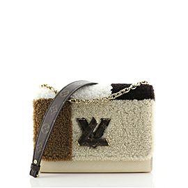 Louis Vuitton Twist Handbag Teddy Fleece with Epi Leather MM