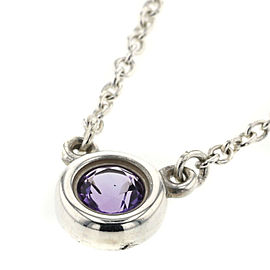 TIFFANY & Co Pink Sapphire Silver925 color By The Yard Necklace TBRK-5