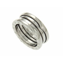 Bulgari B-Zero1 18K White Gold 3 Bands Ring Size 7