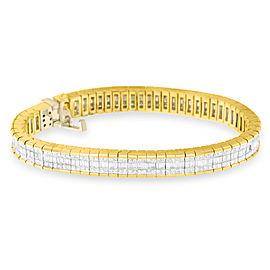 14K Yellow Gold 8ctw. Diamond Bracelet