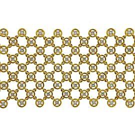 Diamond Gold Mesh Bracelet