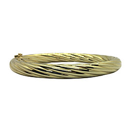 14K Yellow Gold Vintage Twisted Bangle Bracelet