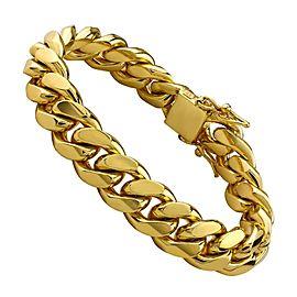 14K Yellow Gold Cuban Bracelet