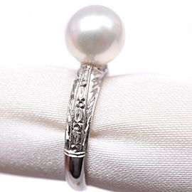 Platinum/Pearl Ring NST-379