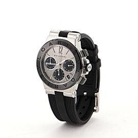 Bvlgari Diagono Chronograph Automatic Watch Ceramic with Stainless Steel and Rubber 37