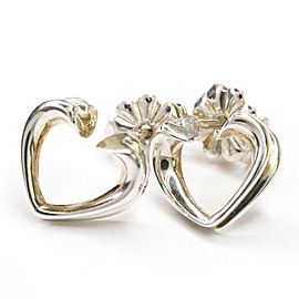 TIFFANY & CO. 925 Silver Tenderness Heart Stud Earrings HK-2693