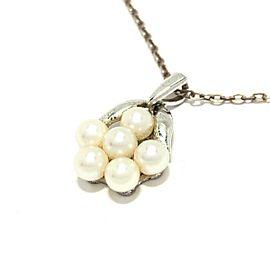 Mikimoto Silver Pearl Necklace