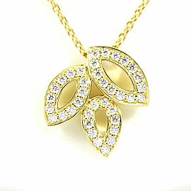 Harry Winston 18K Yellow Gold Diamond Lily Cluster Pendant Necklace
