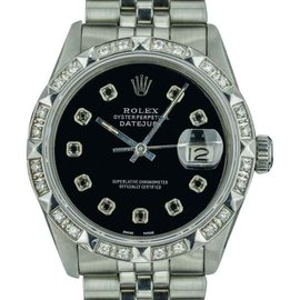 Rolex Datejust 16013 18K White Gold / Stainless Steel Vintage 36mm Mens Watch