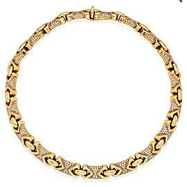 Bulgari Gold and Diamond 'Doppio Cuore' Necklace
