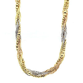 18K Tri Tone Gold Twist Necklace CHAT-973