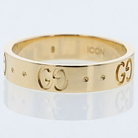 GUCCI K18 Yellow Gold icon Ring TBRK-388