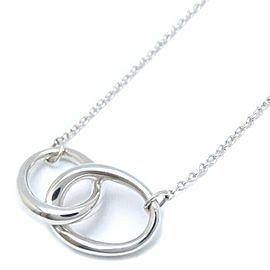 TIFFANY&CO 925 silver Double Loop Necklace