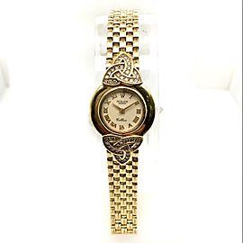ROLEX CELLINI 18K Yellow Gold Ladies Watch Factory Diamonds