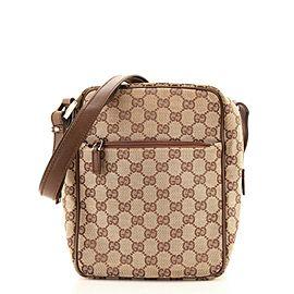 Gucci Front Pocket Messenger Bag GG Canvas Small