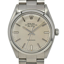 ROLEX Air king 5500 Cal.1520 Silver Dial Automatic Men's Watch