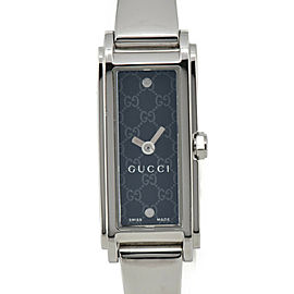 GUCCI 109 109 G-LINE YA109528 Black Dial SS Quartz Ladies Watch