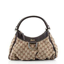 Gucci D Ring Hobo GG Canvas Small