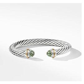 David Yurman Sterling Silver & 14k Gold Prasiolite Bracelet, 7mm