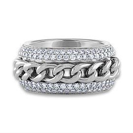 Piaget 18K White Gold Diamond Ring Size 6