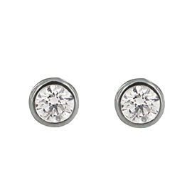 Tiffany & Co. Elsa Peretti Diamonds by the Yard Earrings in Platinum