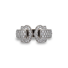 Cartier C de Cartier Ring 18K White Gold 1.20ctw Diamond Size 5.25
