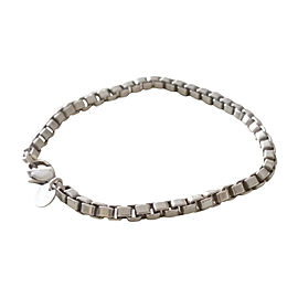 Tiffany & Co. 925 Sterling Silver Venetian Box Link Bracelet