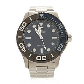 Gucci G-Timeless Classic Diver Quartz Watch Stainless Steel 45