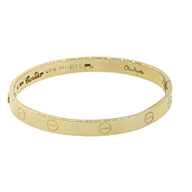 Cartier 18K Yellow Gold Love Vintage Bracelet Size 16