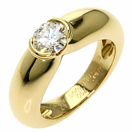 CARTIER 18K Yellow Gold C de Cartier Solitaire Ring TNN-2005