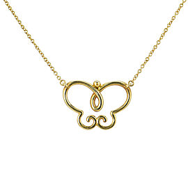 Tiffany & Co. Palamo Picasso 18K Yellow Gold Villa Butterfly Necklace