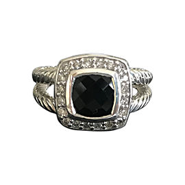 David Yurman Albion Ring Black Onyx and Diamonds