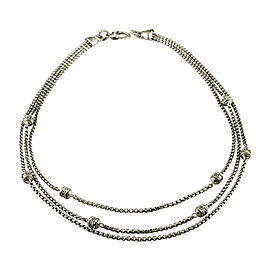 Judith Ripka 925 Sterling Silver with Cubic Zirconia Box Chain Necklace