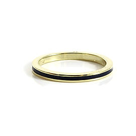Hidalgo 18K Yellow Gold Navy Blue Stack Band Ring