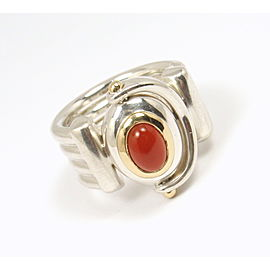 Tiffany & Co. Sterling Silver Carnelian Ring Size 6.5