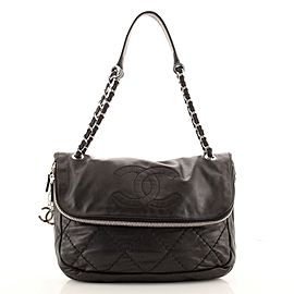 Chanel Expandable Ligne Timeless Flap Bag Quilted Lambskin Large